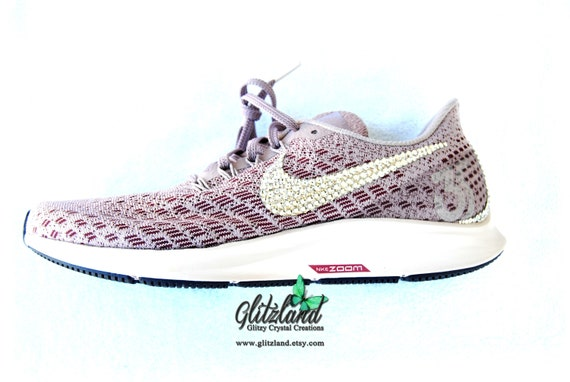 SWAROVSKI® Women Nike Air Zoom Pegasus 35 Shoes Customized  44c0472cb9