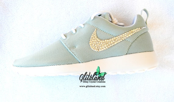 SALE Swarovski Women Nike Fiber Glass Mint Green Roshe  d353494cf5