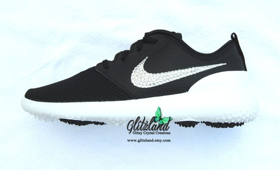 53efcb972bbb2 Swarovski Nike Roshe G Womens Golf Shoes Customized with