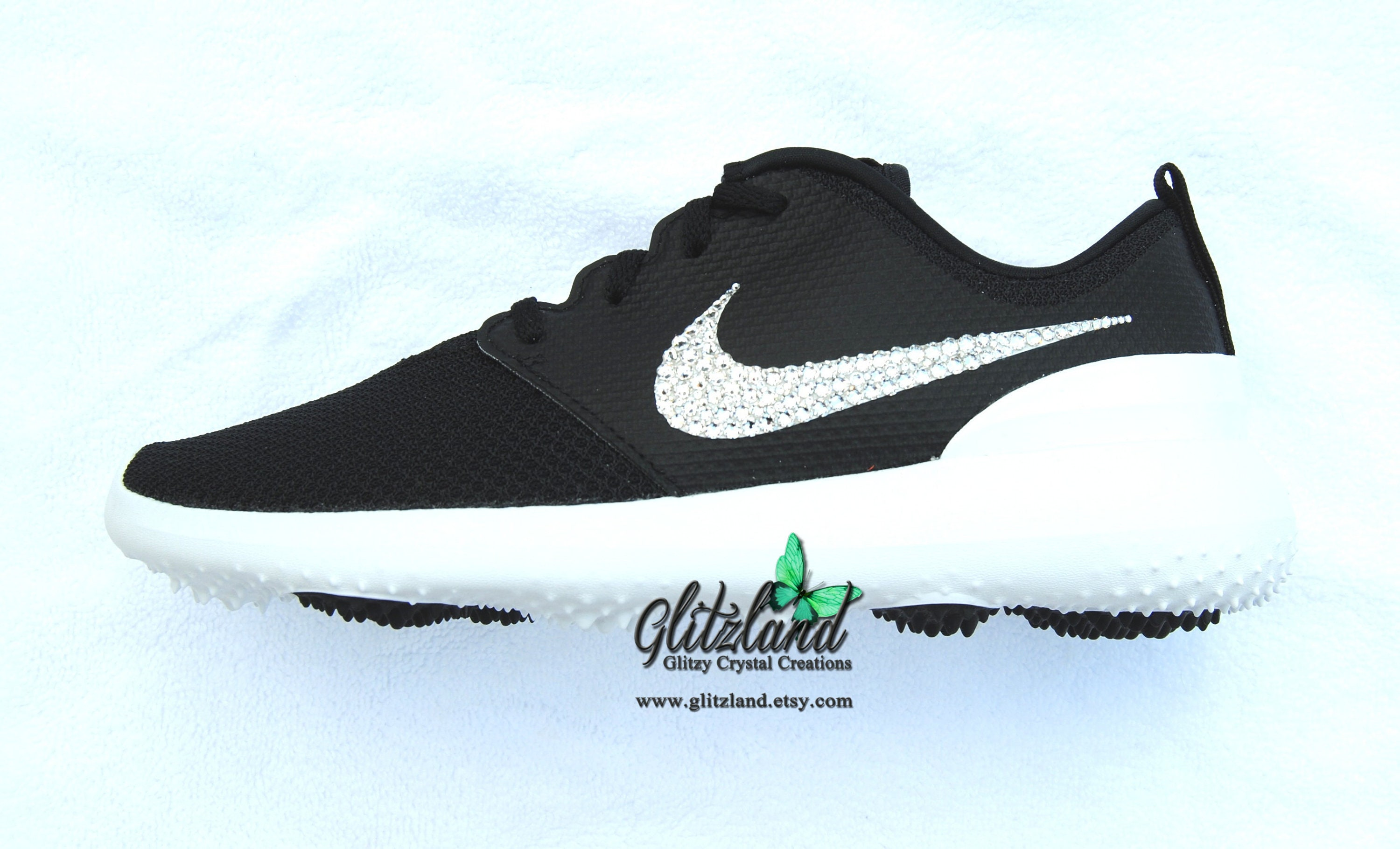 d86b6874a369 Swarovski Nike Roshe G Womens Golf Shoes Customized with SWAROVSKI®  Crystals Many Colors Available