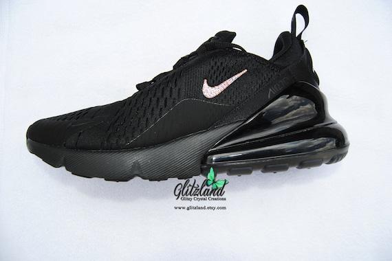 SWAROVSKI® Nike Air Max 270 All Black Customized with | Etsy