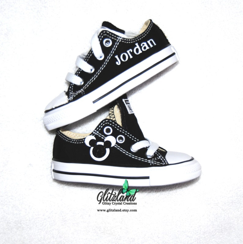 498ef00b5 Kids Converse Mickey Shoes Infant Toddler Personalized