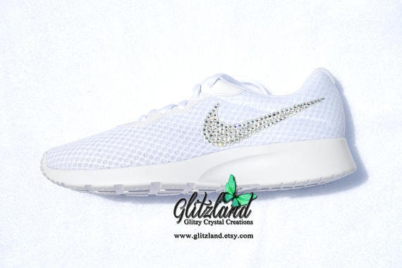 e255a1ecaec63 Swarovski Girl Woman Nike Tanjun Customized with SWAROVSKI® Crystals Many  Colors Available