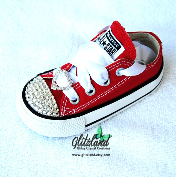 Women Converse Bling Crystals Sizes 5-12 Bedazzled Toes  696c75e270