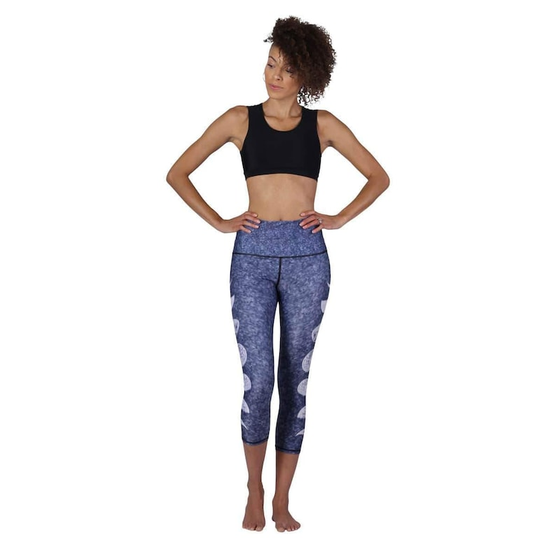 High Waisted Yoga Leggings  Printed Yoga Tights  Womens Eco-Friendly Leggings  Made from post consumer plastic  water bottles