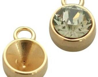 DQ Pendant-1 piece-F. Chaton SS39-Gold, gilded-Zamak