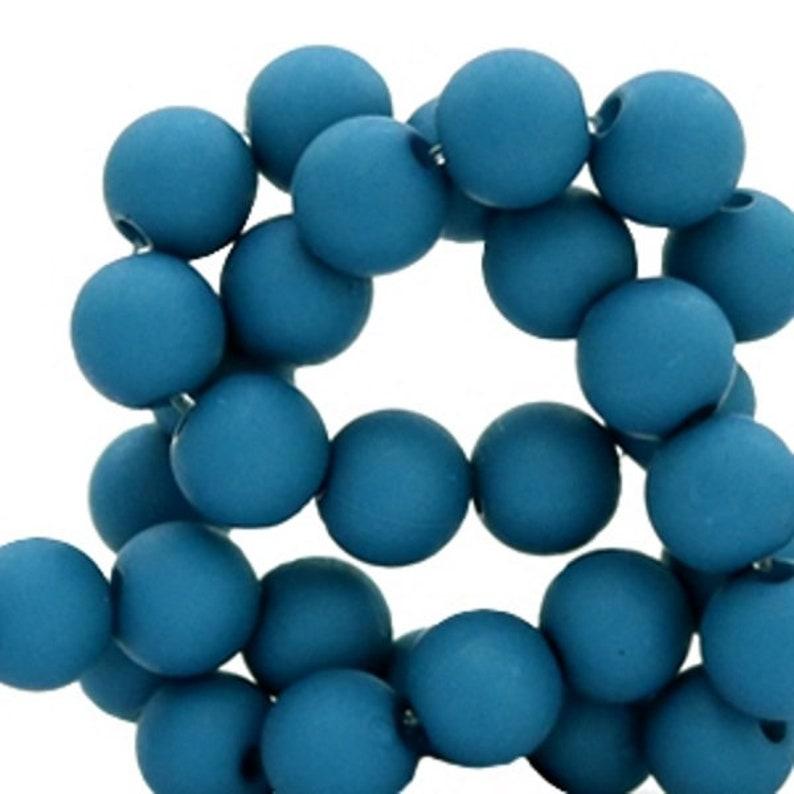 Sadingo Acrylperlen matt 100 Stk. Kunststoffperlen Bastelperlen Ø 6 mm