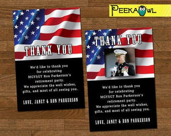 picture about Military Thank You Cards Free Printable called Armed service thank your self Etsy