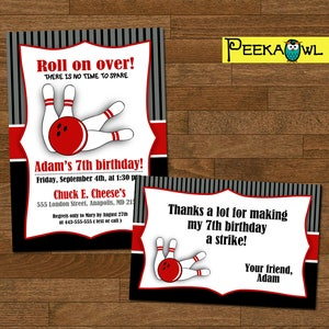 Kostenlos einladungskarten drucken bowling Einladungen, Einladungskarten