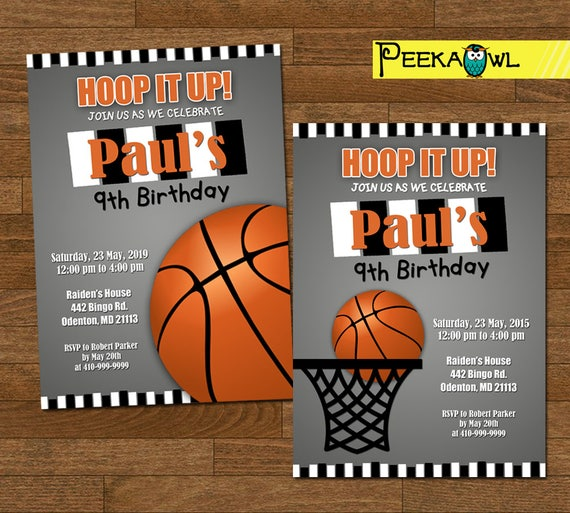 Basketball Invitations For Boys Invites