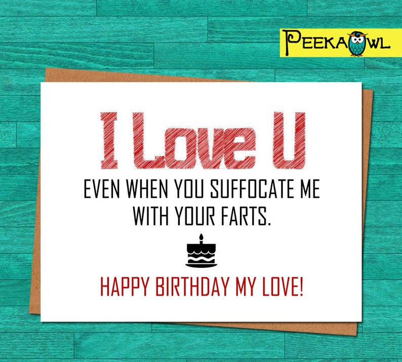 Instant Download Funny Birthday Card Boyfriend Husband