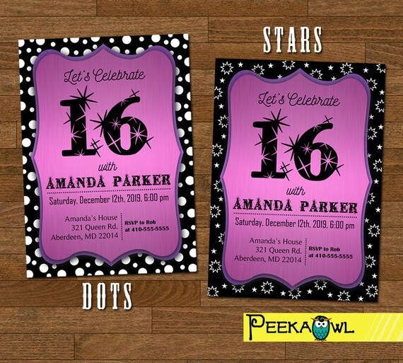 image about Printable Sweet 16 Invitations identify Printable Cute 16 invitation - Adorable 16 invites - Adorable 16 occasion - 16th birthday invitation card - Lovable 16 invitation card!