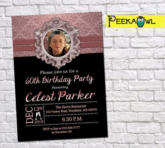 60th Birthday Invitations 30th 40th 50th 70th Party Invites