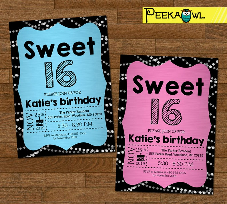 picture about Printable Sweet 16 Invitations known as Printable Adorable 16 Invitation Birthday Invitation card, Adorable 16 birthday invitation, Lovable 16 birthday invite, Women birthday celebration!!!
