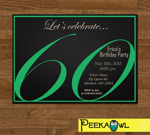 Karte 60 Geburtstag.Druckbare 60 Geburtstag Einladung Karte 60 Geburtstag Party Einladung Erwachsene Geburtstag Einladung Druckbare Diy Einladung Nur Digital