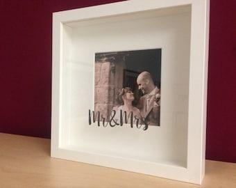 Personnalisé le cadre photo de mariage / Mr & Mme cadre Photo