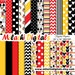 Charlene reviewed Mickey mouse digital paper, scrapbook papers, wallpaper, mickey background, polka dots, chevron, stripes - M403