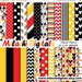 Karen Welch reviewed 60% OFF SALE Mickey mouse digital paper, scrapbook papers, wallpaper, mickey background, polka dots, chevron, stripes - M403