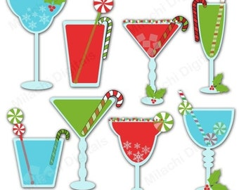 cocktails clip art etsy rh etsy com Martini Clip Art Outline Birthday with Martini Glass Clip Art