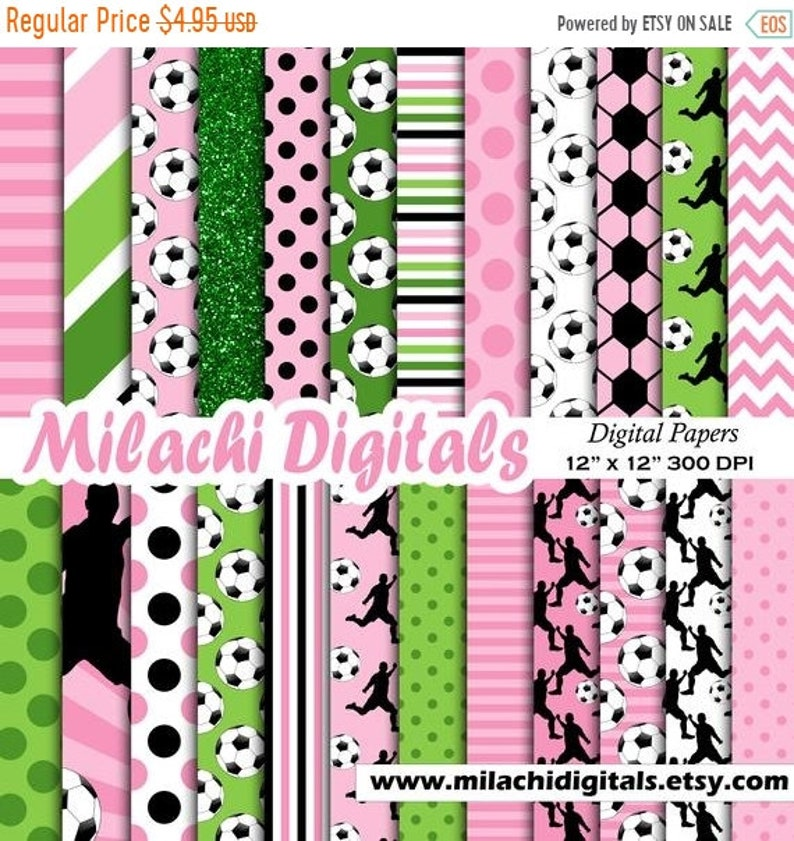48a9ab732ab62 70% OFF SALE Pink Soccer digital paper, sport scrapbook papers, football  background, purple soccer wallpaper, commercial use - M622