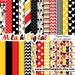 Claudia Bonilla Garcia reviewed Mickey mouse digital paper, scrapbook papers, wallpaper, mickey background, polka dots, chevron, stripes - M403