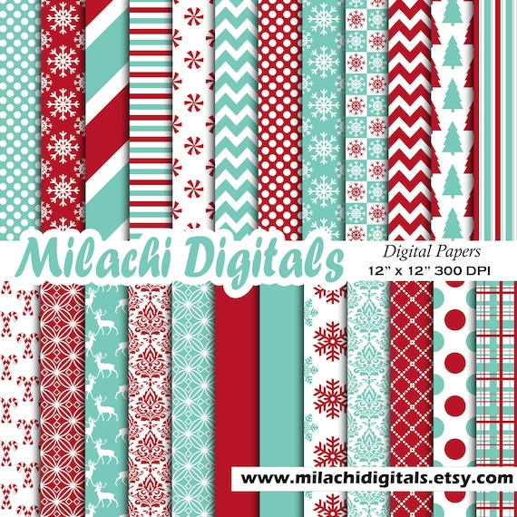 holiday scrapbook papers 70/% OFF SALE Winter Wonderland digital paper background M608 snowflake wallpaper Christmas
