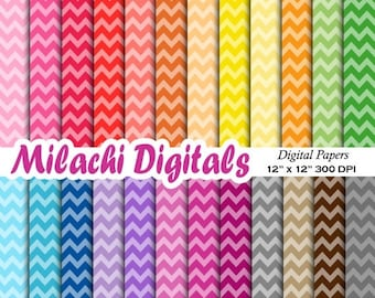 60% OFF SALE Chevron digital papers, scrapbook papers, zigzag wallpaper, background, commercial use - M500