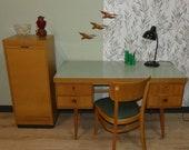 50s EKA Works Desk fifties Office Furniture Pastel Green Resopal Classic