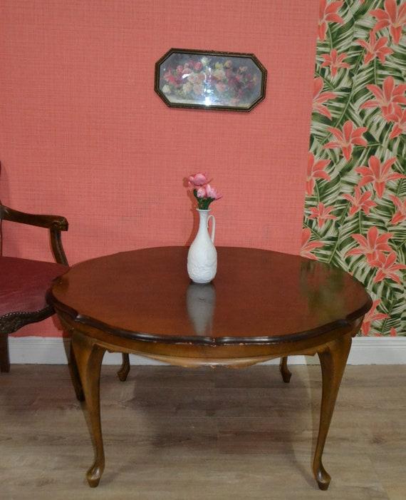 Couchtisch Chippendale Rund 60er Jahre Stilmöbel Etsy