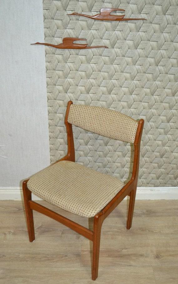 Surprising 60S Sturdy Chair 60S Design Teak Beige Sixties Dining Chair Lamtechconsult Wood Chair Design Ideas Lamtechconsultcom