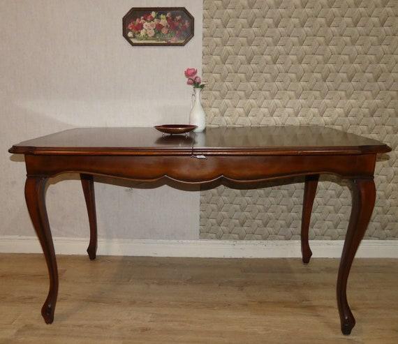 Massiver Tisch Chippendale Stil Eßtisch Ausziehbar 180cm 60er Etsy
