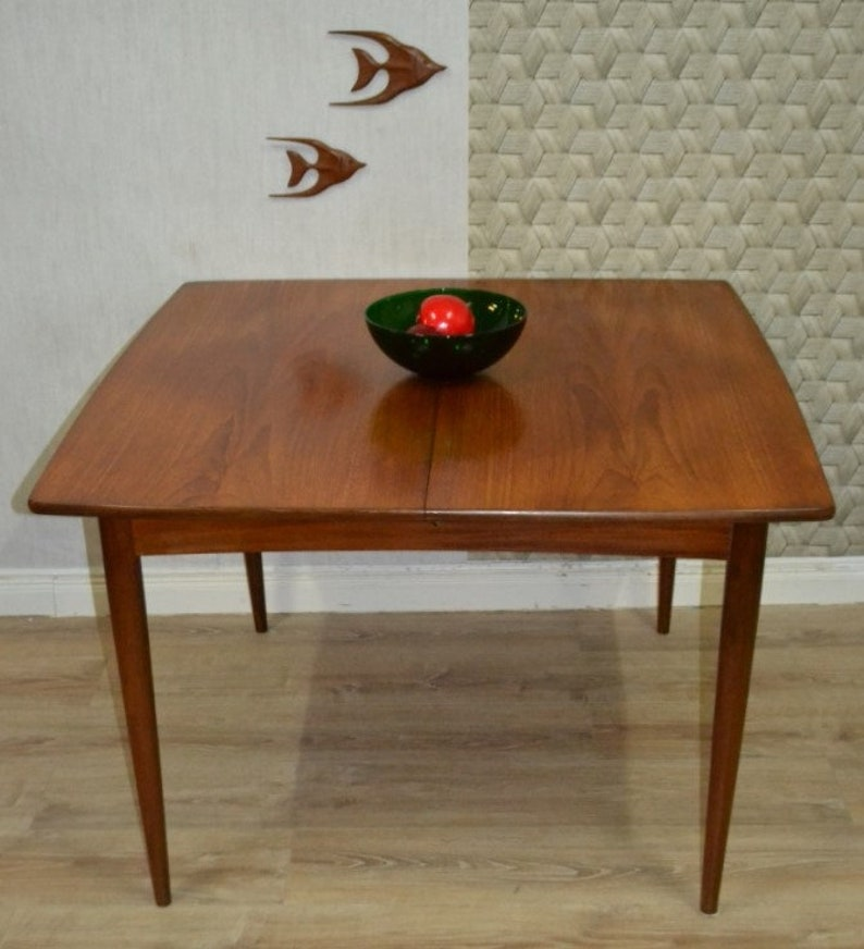 cheap for discount 4dde8 bacef Large 60s pull-out dining table Danish design square