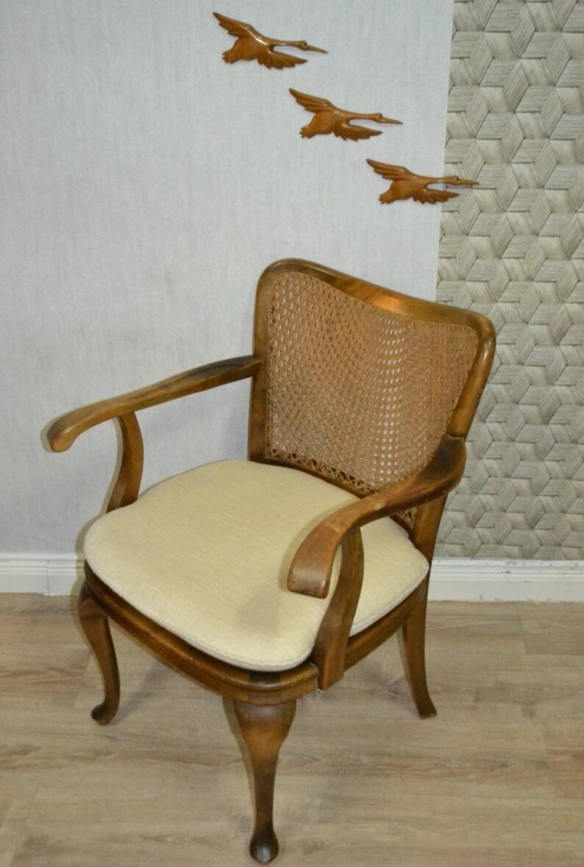 Style Chippendale Chaise Fauteuil Tisse Canne Meubles Avec Etsy