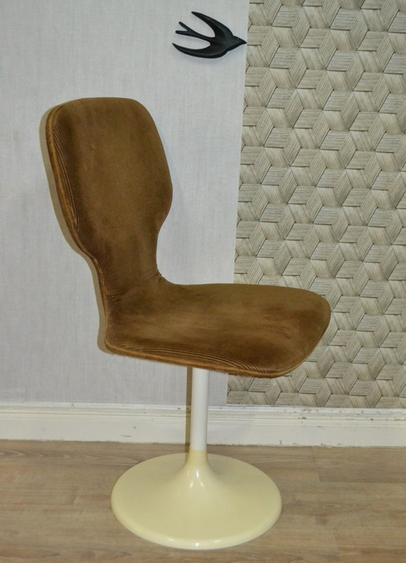 Admirable Space Age 70S Lusch Swivel Chair Cord Tulip Foot 1V4 Creativecarmelina Interior Chair Design Creativecarmelinacom