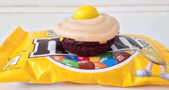 Chocolate Peanut M&M's mini donuts
