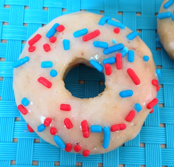 Almond Boy Sprinkles mini donuts