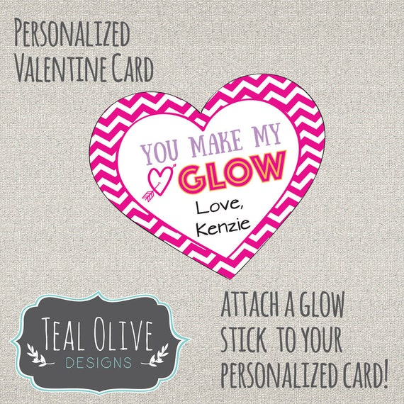 photograph relating to You Make My Heart Glow Printable called Valentines Working day Card \
