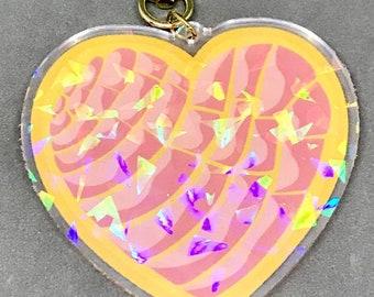 Concha Heart Charm (Holographic)