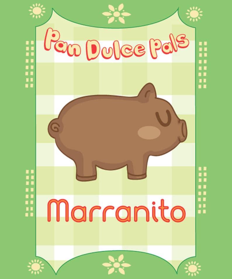 Pan Dulce Pals: Marranito 4x6 art print image 0