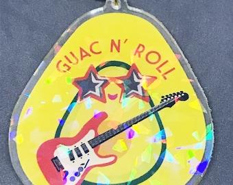 Guac N' Roll Acrylic Charm (Holographic)