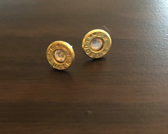 9mm brass Luger up-cycled bullet earrings