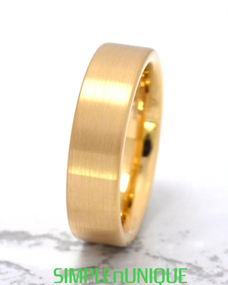 Mens Tungsten Band Gold Wedding Band Gold Tungsten Ring Wedding Ring Men Mens Tungsten Wedding Band Tungsten Ring Mens Wedding Band