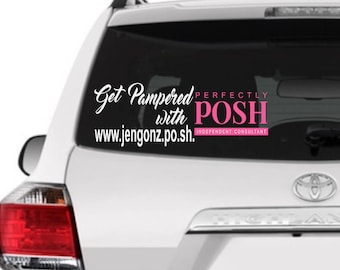 Perfectly posh decal/perfectly posh sticker/get pampered with posh/customized perfectly posh decal/Posh rep,Posh rep sticker,Posh rep decal