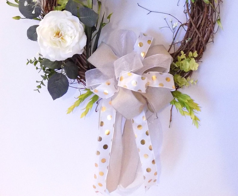 Elegant Unique Wreath Handmade New Front Door Wall Wreath Oval Grapevine Everyday Wreath Housewarming Gift Birthday Gift Present