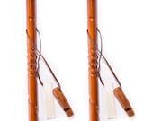 Hiking Sticks Set of 2 Hand Carved Walking Cane Walking Trekking Nordic Pole Staff Handmade Full Spiral Nodes