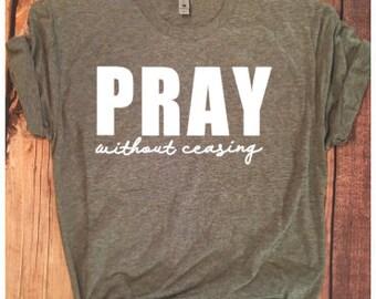 f092e8529 PRAY without ceasing unisex short sleeve Next Level T-shirt