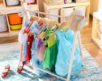 Mini Children's Clothing Rack (NO Canvas)Child's Clothing Rack, Dress Up Rack, Toddler Dress Up, Capsule Wardrobe, Modern Clothing Rack