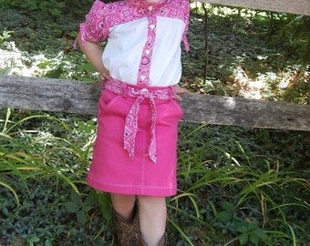 Abilene Skirt and Calico Blouse PDF Sewing Pattern Set