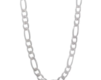 925 Sterling Silver 2mm Figaro Men's Chain Women's Necklace Pure .925 Silver