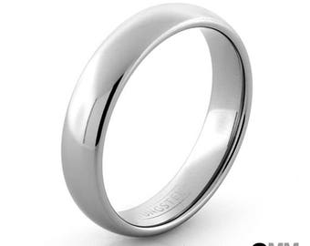 Tungsten Ring, Silver Tungsten Wedding Band, Men's Ring, Women's Ring, 6mm Tungsten Ring, Sizes 5-15 (w/ half sizes!), Silver Wedding Ring
